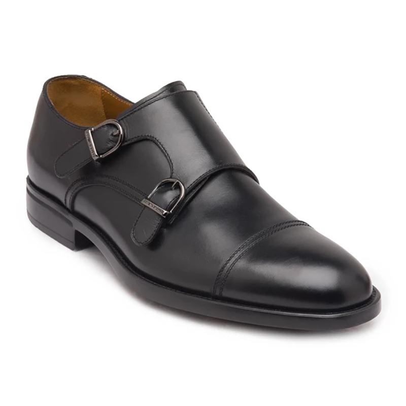 Bruno Magli Barone Monk Strap Shoes Black Image