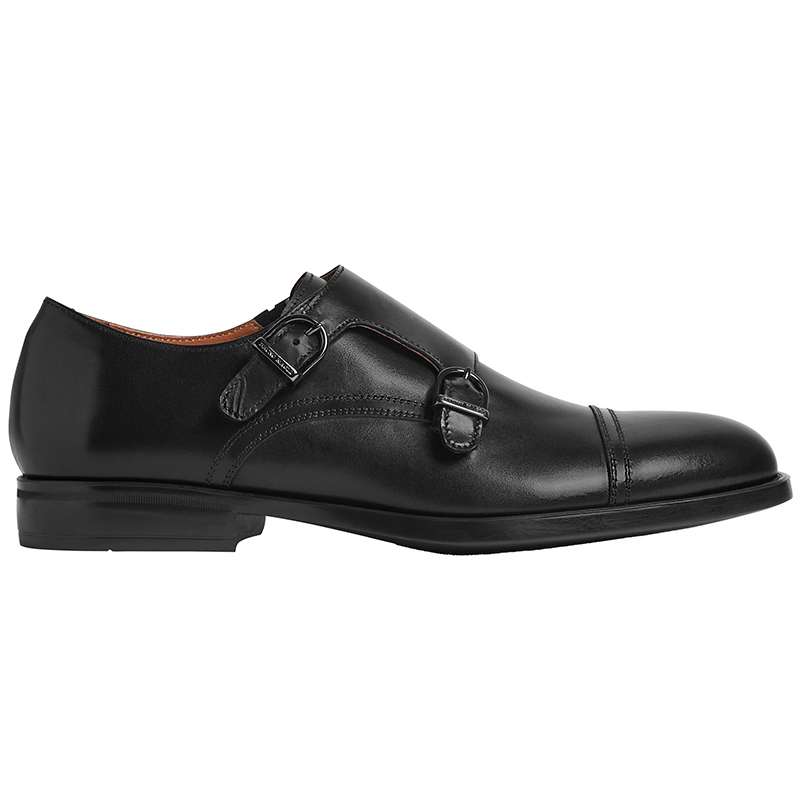 Bruno Magli Barone Monk Strap Shoes Black Image