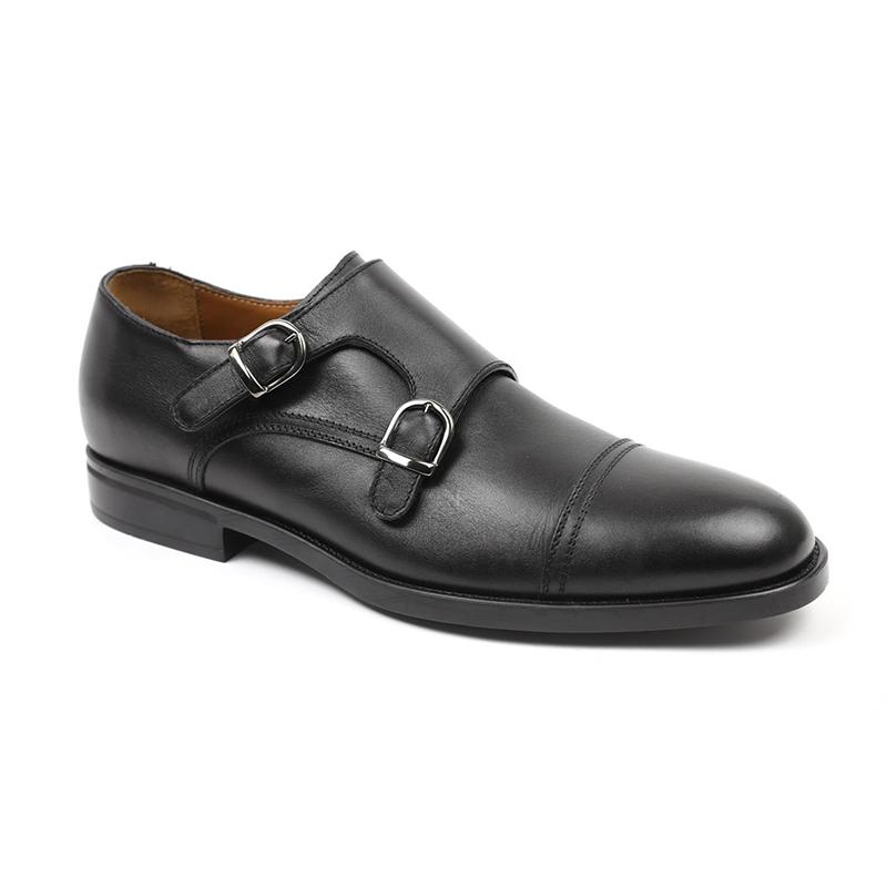 Bruno Magli Barone Monkstrap Shoes Black Image