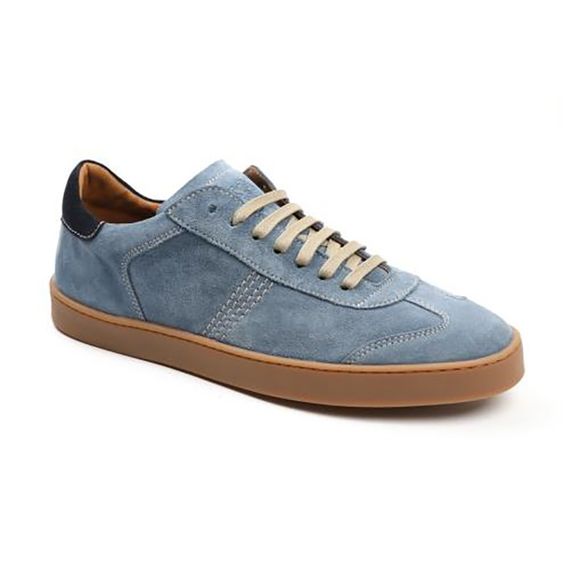 Bruno Magli Bono Sneakers Light Blue Suede Image