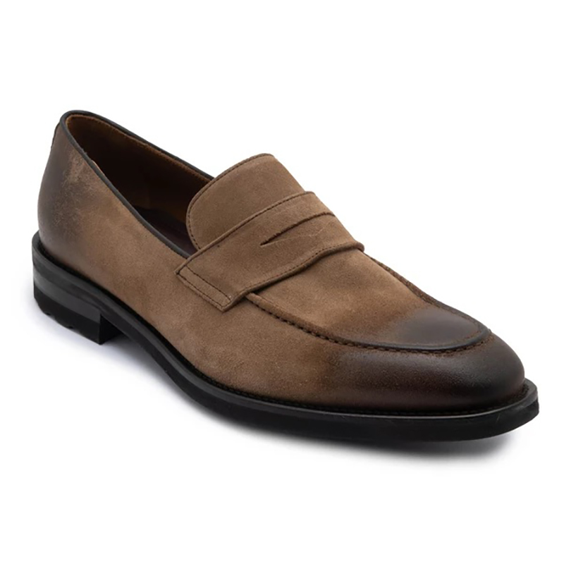 Bruno Magli Bryan Burnished Toe Loafer Taupe Image