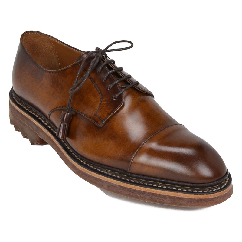 Bruno Magli Camino Derby Shoes Cognac Image