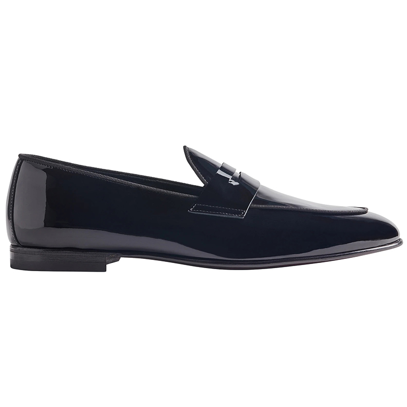 Bruno Magli Cardosa Sera Patent Leather Penny Loafer Black Image