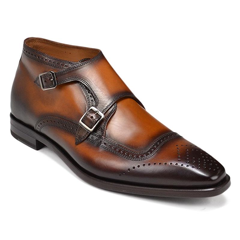 Bruno Magli Carlo Monk Strap Ankle Boots Cognac Image