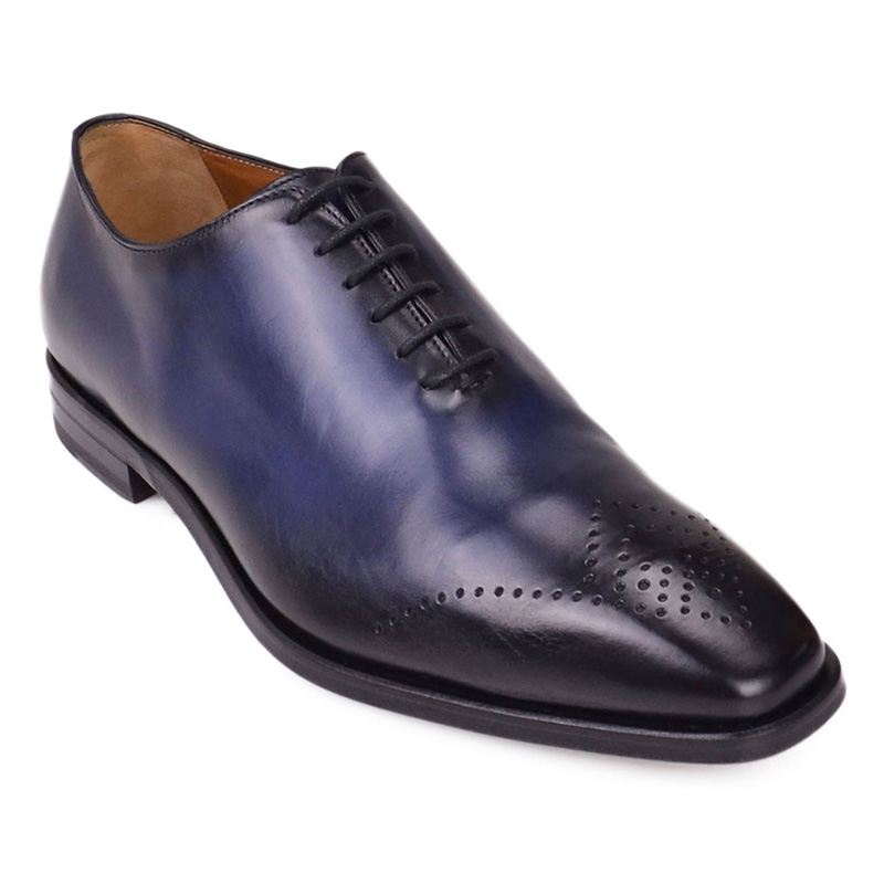 Bruno Magli Claudio Eyelet-Toe Oxford Shoes Blue Image