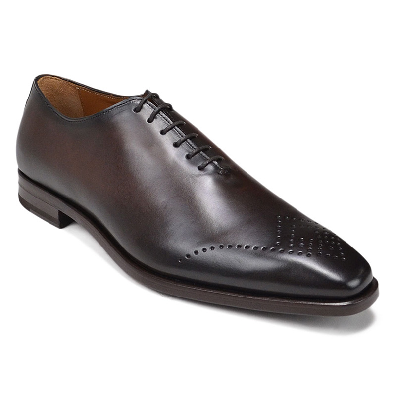 Bruno Magli Claudio Eyelet-Toe Oxford Shoes Dark Brown Image