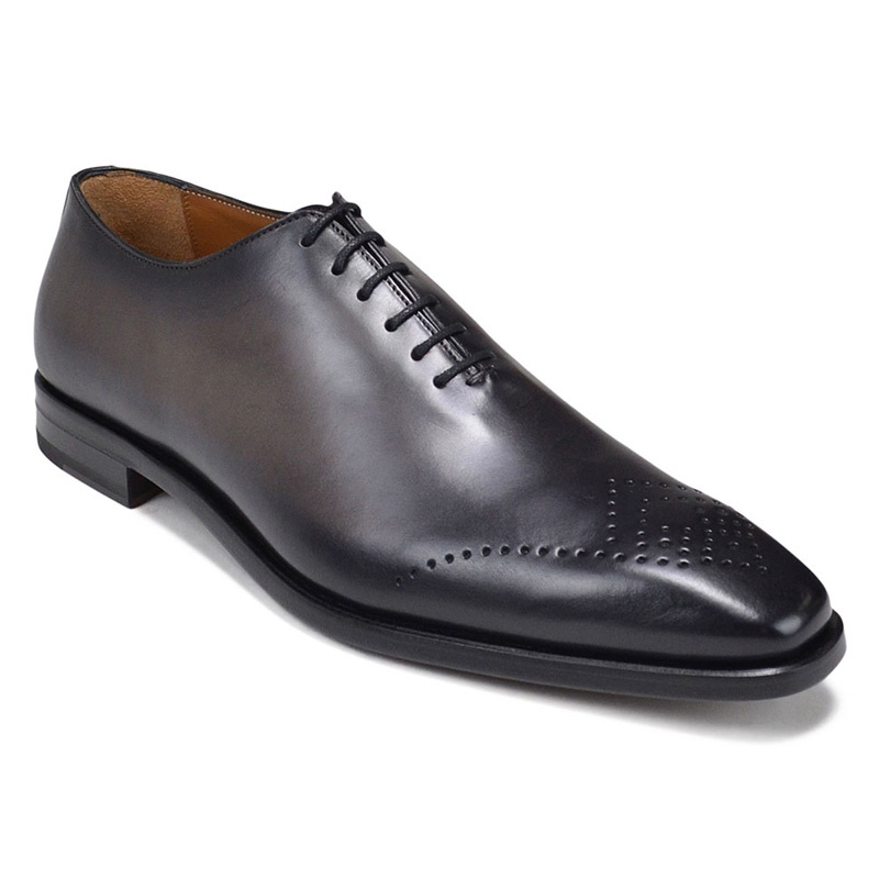 Bruno Magli Claudio Eyelet-Toe Oxford Shoes Dark Grey Image