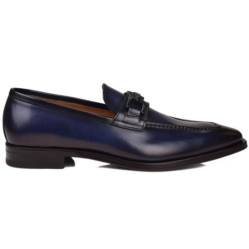 Bruno Magli Cornelio Blue Loafers Blue Image