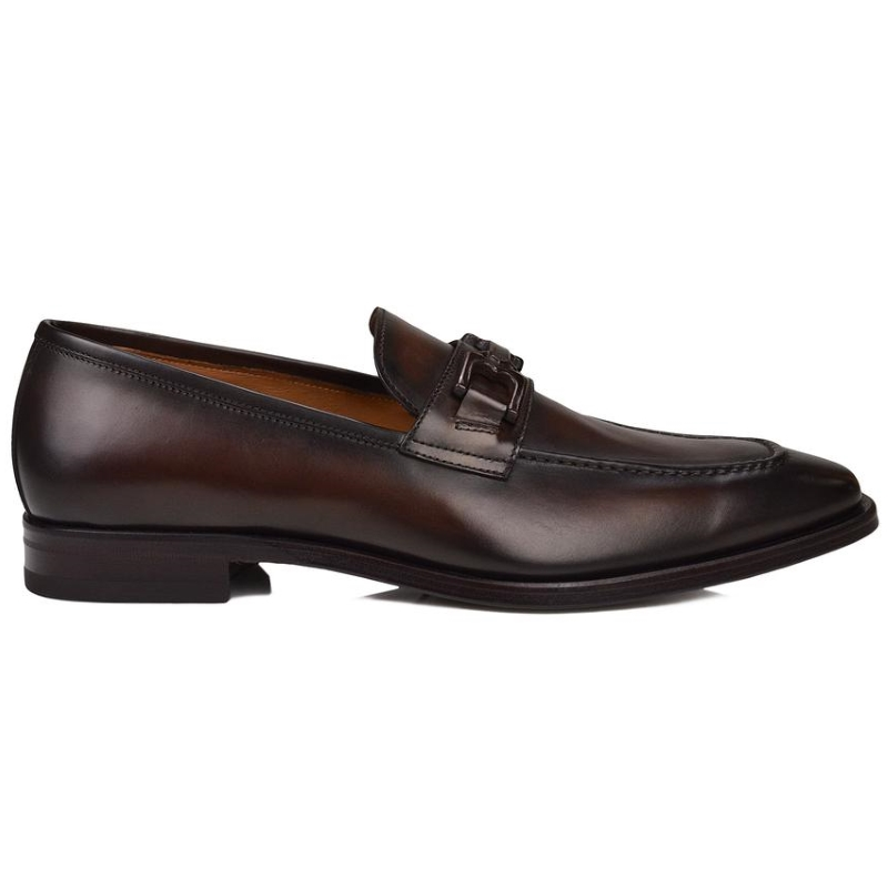 Bruno Magli Cornelio Blue Loafers Whiskey Image