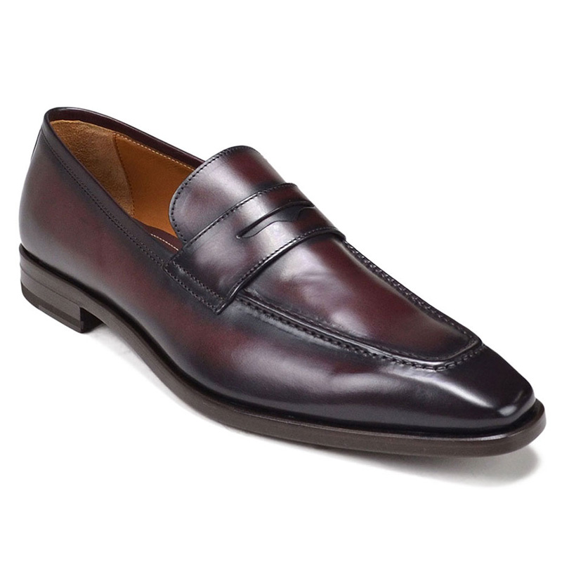 Bruno Magli Corrado Penny Loafer Shoes Bordo Image