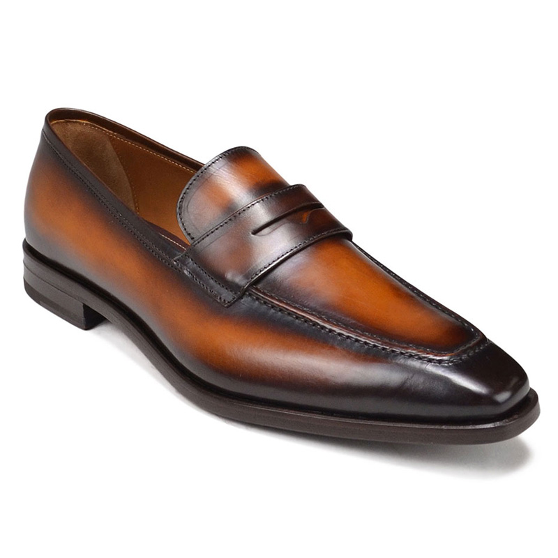 Bruno Magli Corrado Penny Loafer Shoes Cognac Image
