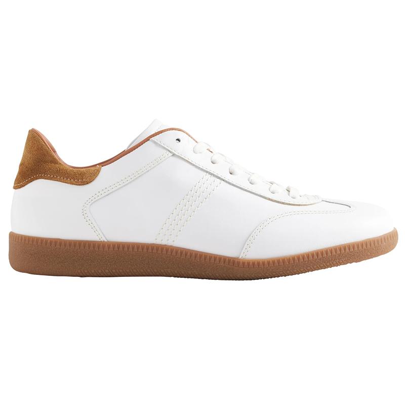 Bruno Magli Dano Leather & Suede Sneaker White Image