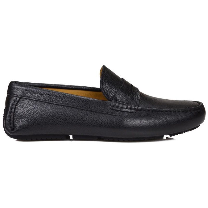 Bruno Magli Dragone Pebble Grain Driving Loafers Black Image