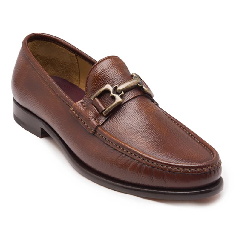 Bruno Magli Enzo Pebbled Leather Bit Loafer Whiskey Image