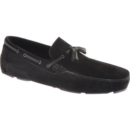 Bruno Magli Mens Estol Gray Slip-On Moc Toe Tassel Driving Drivers Loafers Shoes