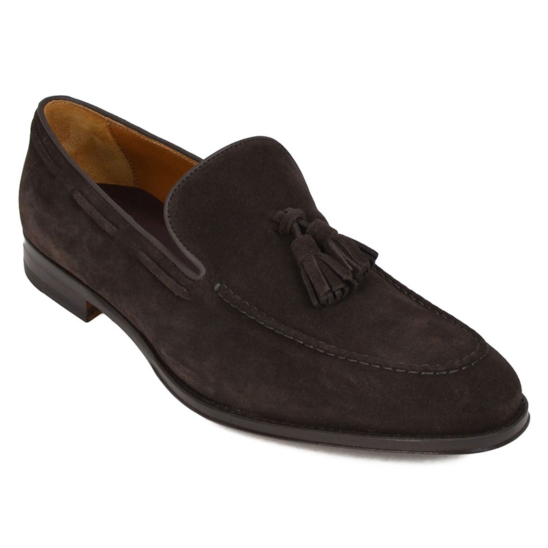 Bruno Magli Fabiolo Suede Tassel Loafers Dark Brown Image