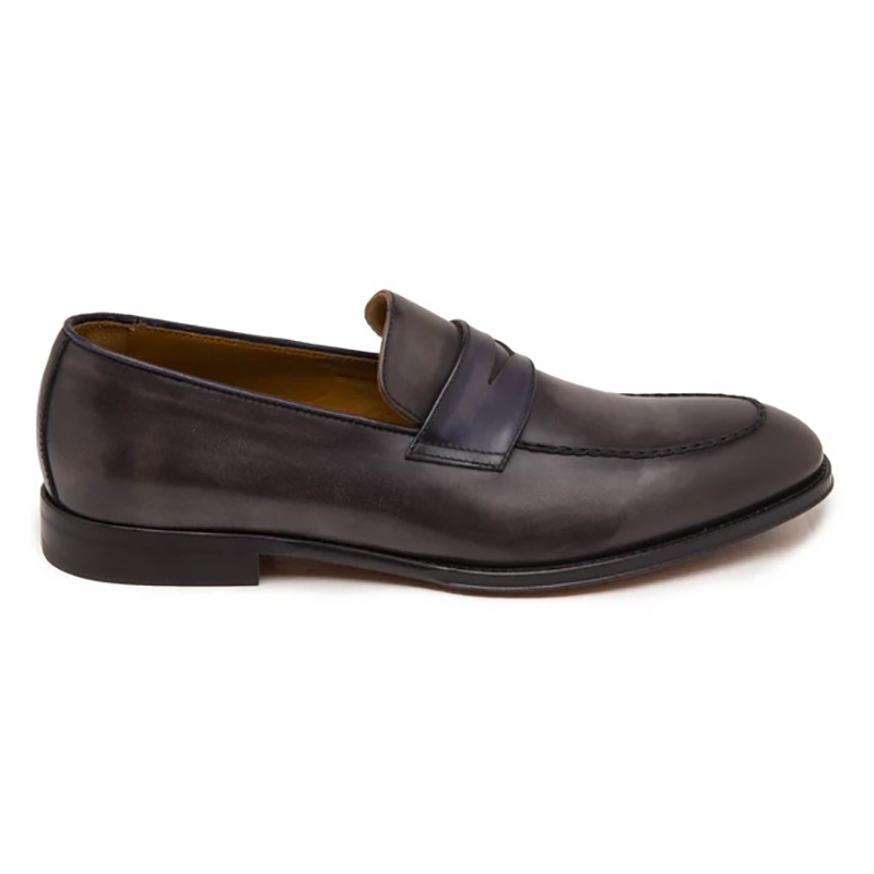 Bruno Magli Fanetta Two Tone Penny Loafer Grey/Navy Image