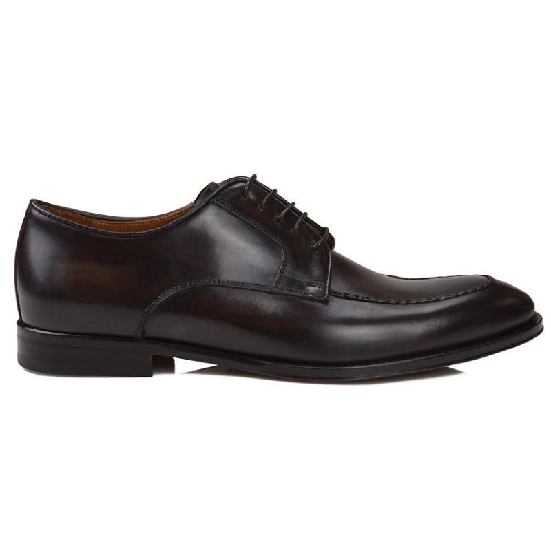 Bruno Magli Fausto Derby Shoes Dark Brown Image
