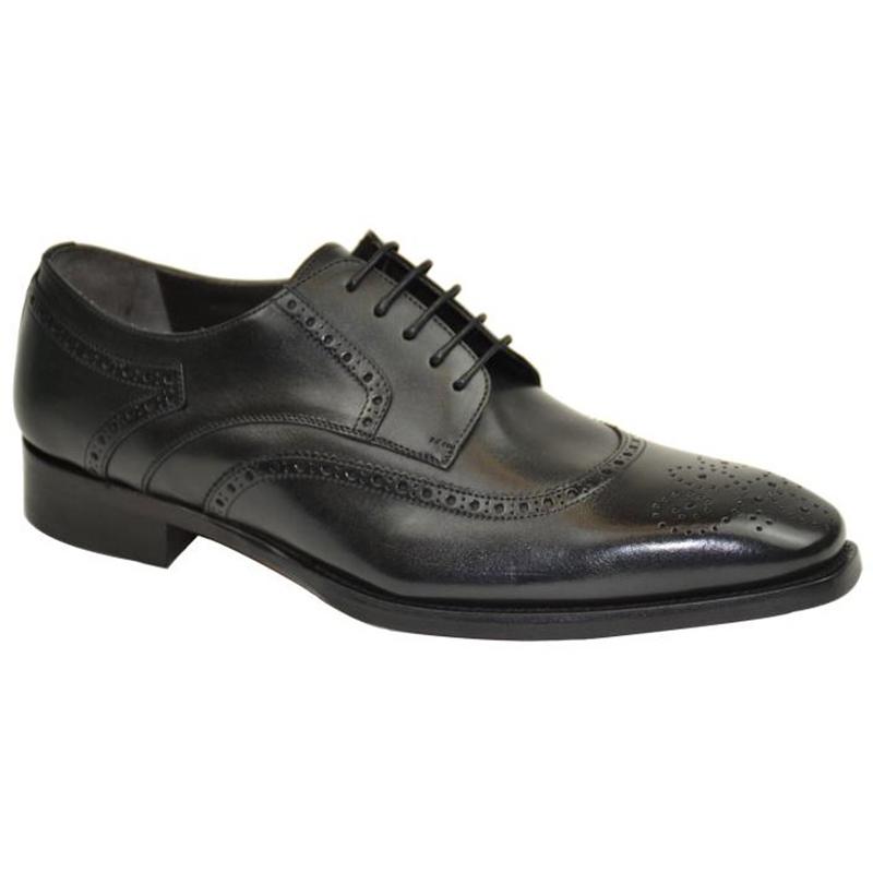 Bruno Magli Gigilo Wingtip Shoes Black Image