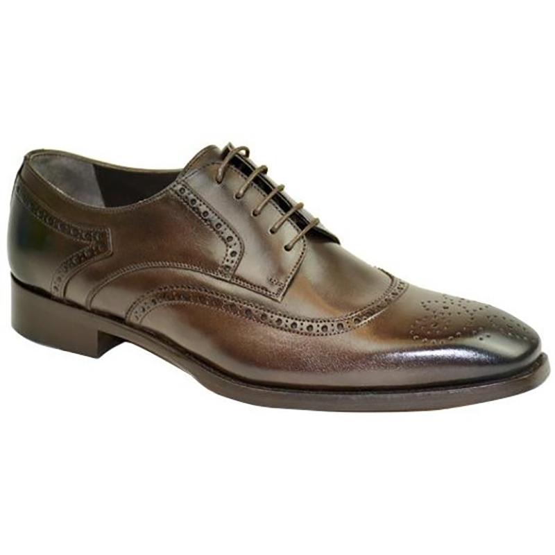 Bruno Magli Gigilo Wingtip Shoes Dark Brown Image