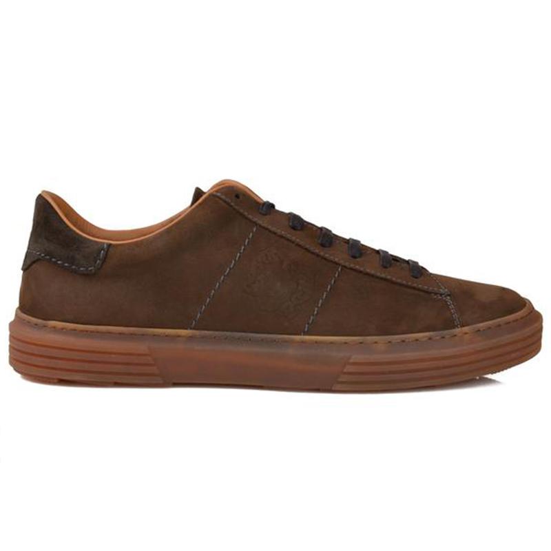 Bruno Magli Giuliano Nubuck Linen Sneaker Brown Nubuck Image