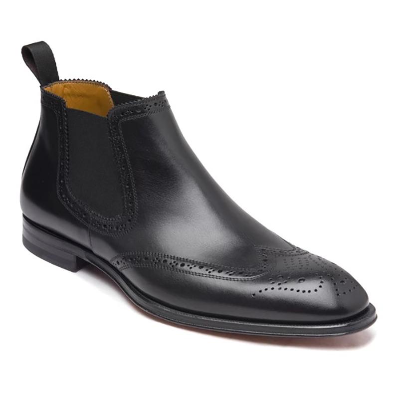 Bruno Magli Lamberto Wing-Tip Chelsea Boots Dark Grey Image