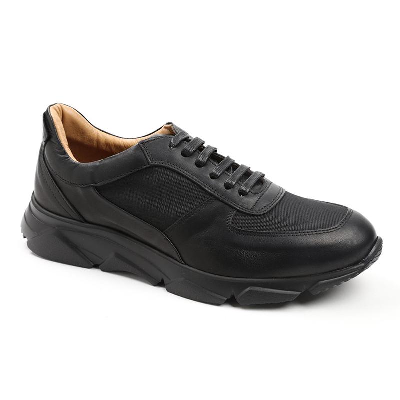 Bruno Magli Lazise Leather / Nylon Oxfords Black Image