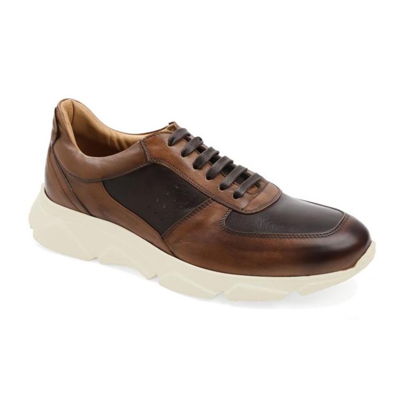 Bruno Magli Lazise Leather / Nylon Oxfords Cognac / Dark Brown Image