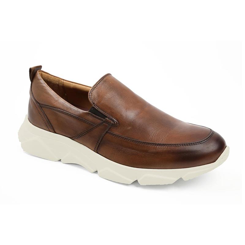 Bruno Magli Lorenzo Slip-on Shoes Cognac Image