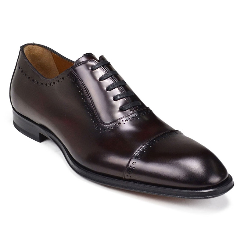 Bruno Magli Lucca Cap Toe Bal Oxford Shoes Bordo Image