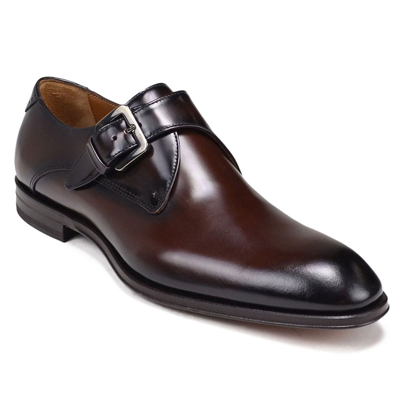 Bruno Magli Lucio Monk Strap Shoes Dark Brown Image