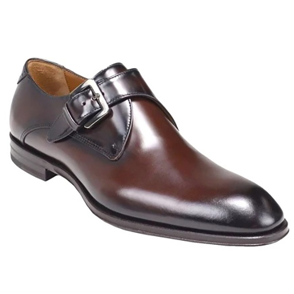 Bruno Magli Lucio Monk Strap Shoes Dark Brown Image