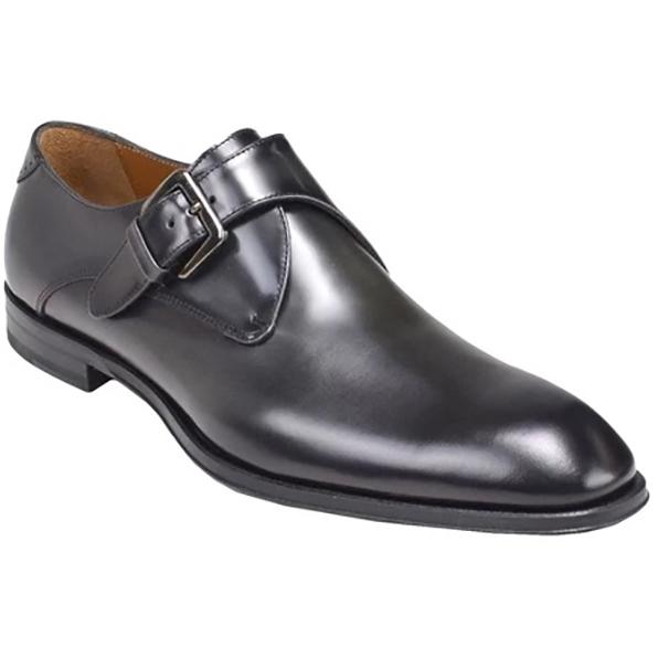 Bruno Magli Lucio Monk Strap Shoes Dark Grey Image