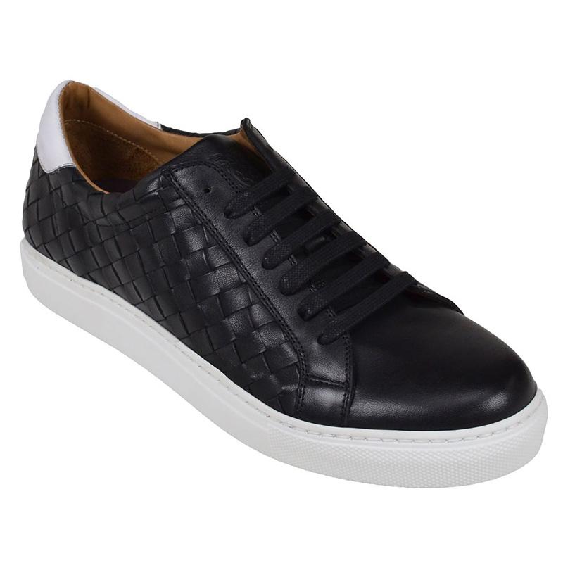 Bruno Magli Malpensa Woven Sneakers Black Image