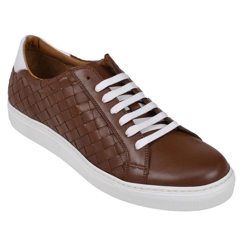 Bruno Magli Malpensa Woven Sneakers Cognac Image