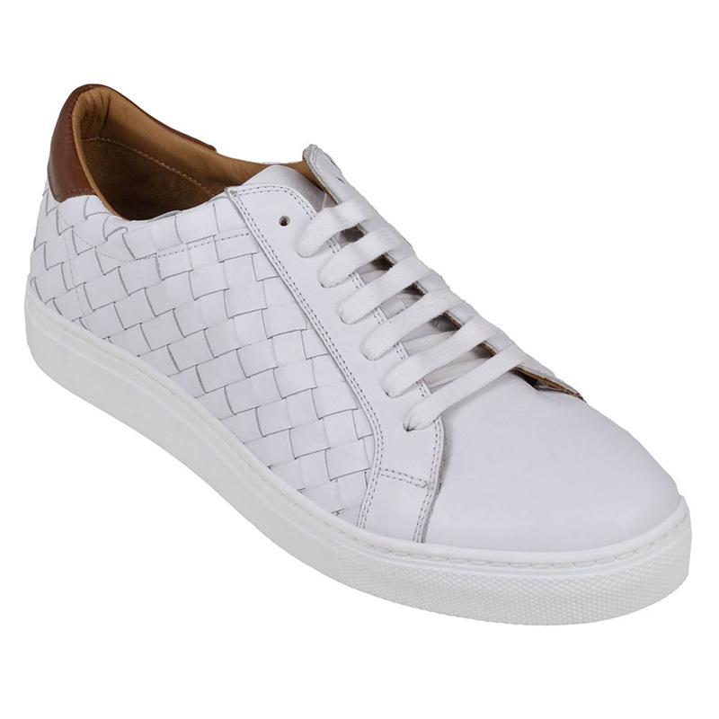 Bruno Magli Malpensa Woven Sneakers White Image