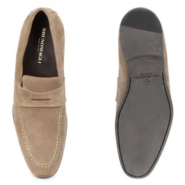 186e8dde5e9 Bruno Magli Medordo Suede Loafers Sand Image · Bruno Magli Mens Shoes logo  · ImageText · ImageText