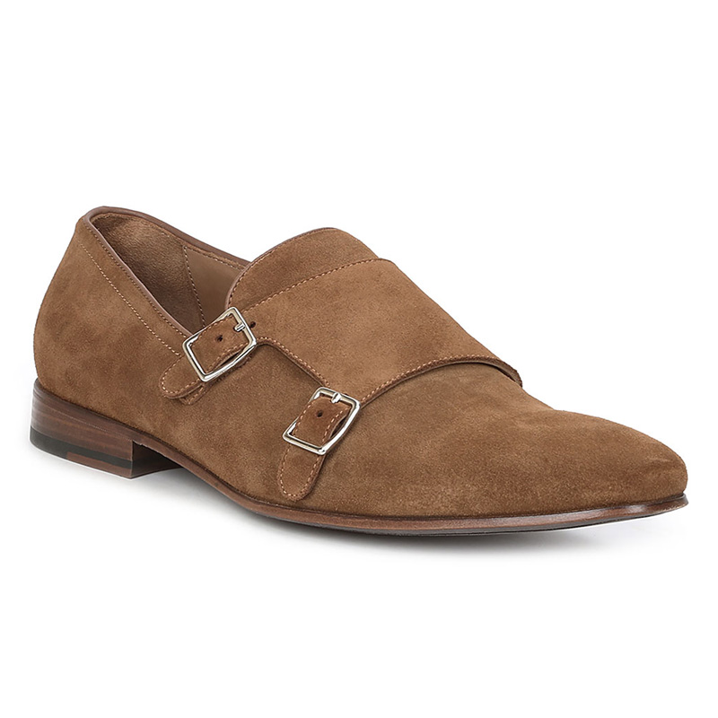 Bruno MagliMino Suede Monk Strap Shoes