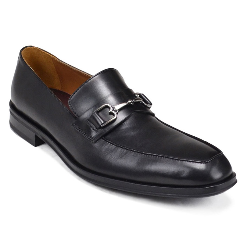 Bruno Magli Nardo Leather Bit Loafers Black Image