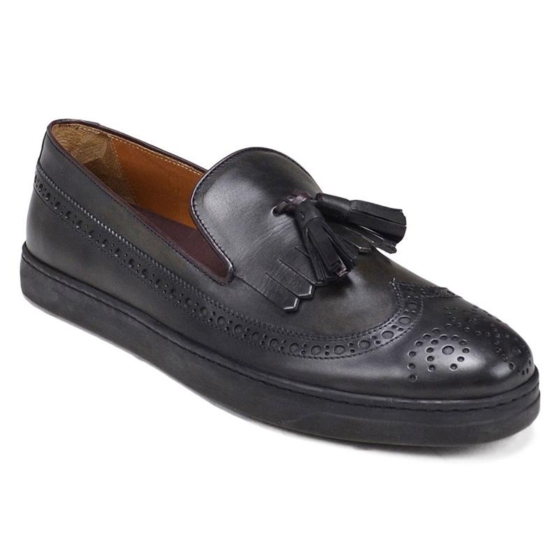 Bruno Magli Oliverio Wingtip Fringer Sneakers Dark Grey Image