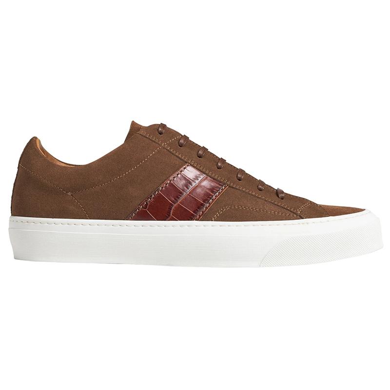 Bruno Magli Onzo Croc Print Sneakers Cognac Image