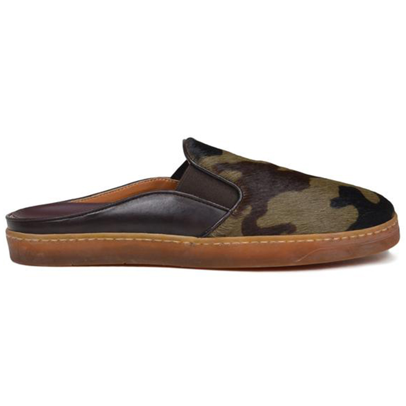 Bruno Magli Orosco Camo-Print Mule With Sport Sole Camo Calf Hair Image
