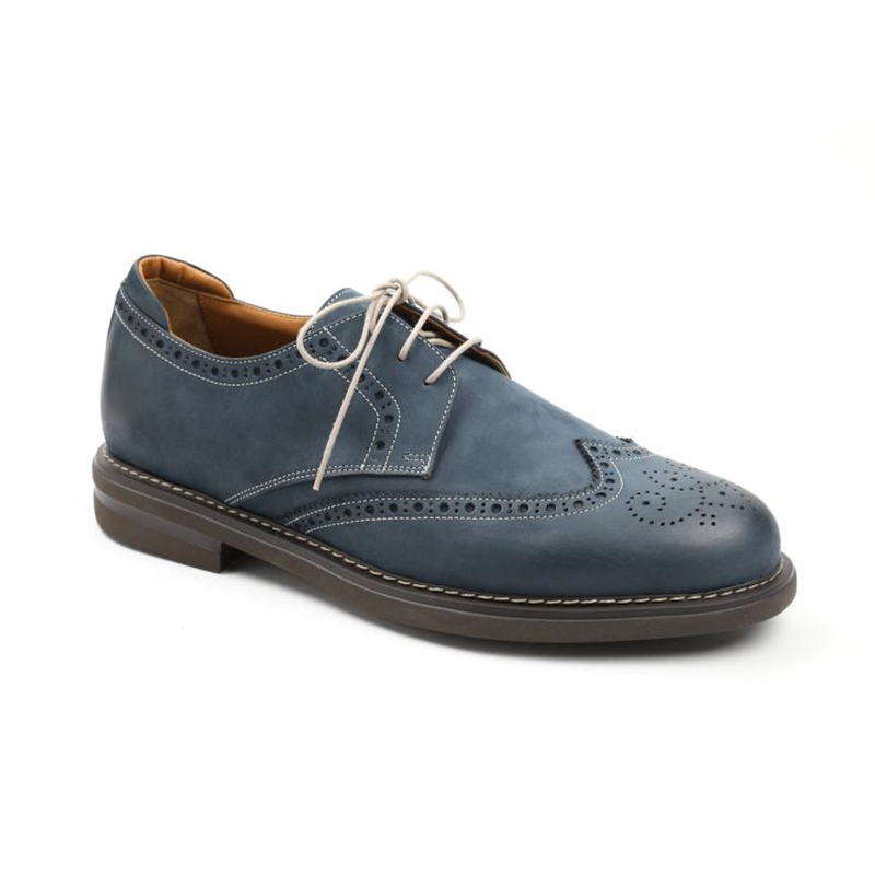 Bruno Magli Otto Wingtip Shoes Navy Image
