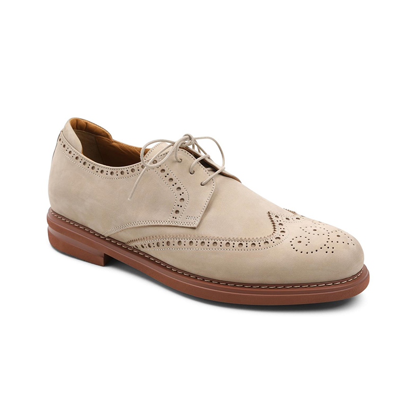 Bruno Magli Otto Wingtip Shoes Taupe Image