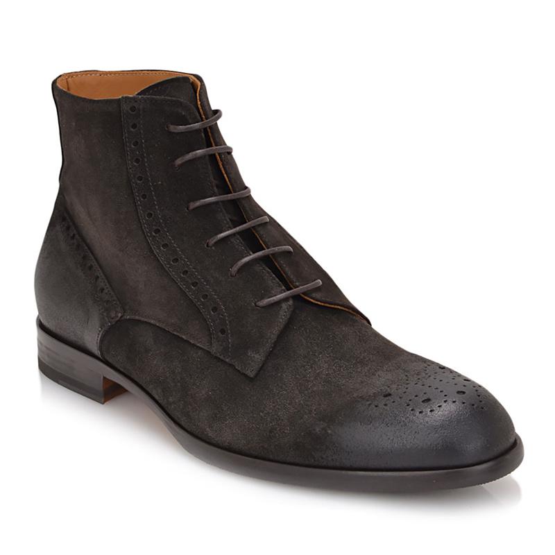 Bruno Magli Palermo Plain Toe Lace Boot Black Image