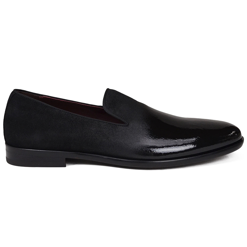Bruno Magli Picasso Suede Patent Shoes Black Image