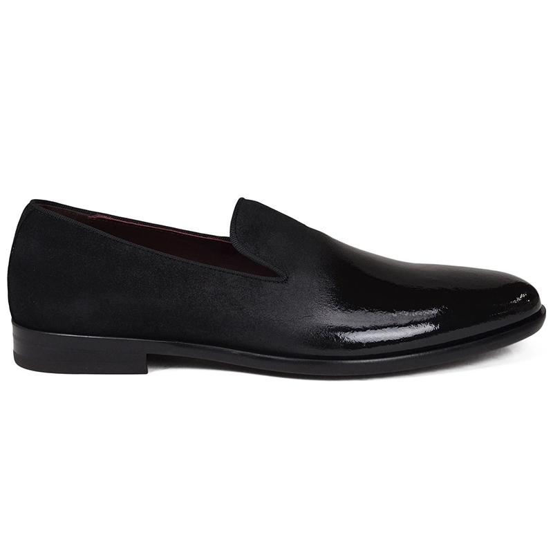 Bruno Magli Picasso Suede Patent Shoes Black Image