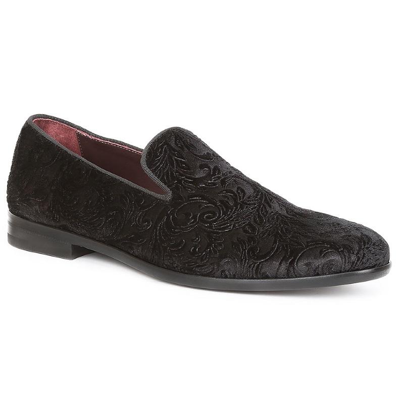 Bruno Magli Picasso Velvet Loafers Black Image