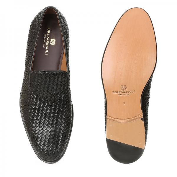 7bdcec53ec5 Bruno Magli Picasso Woven Loafers Black Image · Bruno Magli Mens Shoes logo  · ImageText · ImageText