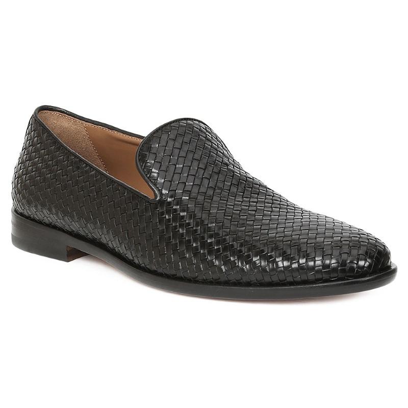 Bruno Magli Picasso Woven Loafers Black Image